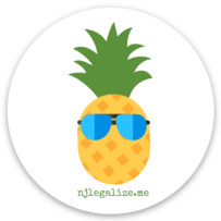 njlegalize.me pinapple circle sticker