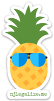njlegalize.me pinapple die cut sticker